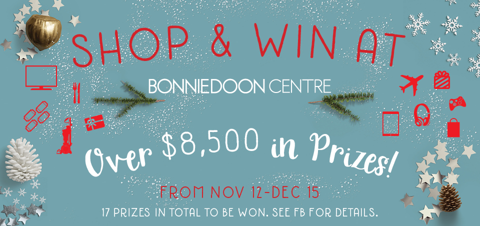 Shop & Win at the Bonnie Doon Shopping Centre