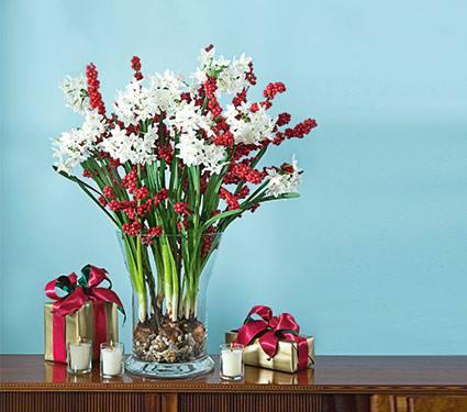 Holiday Flower Arrangement & Centerpiece