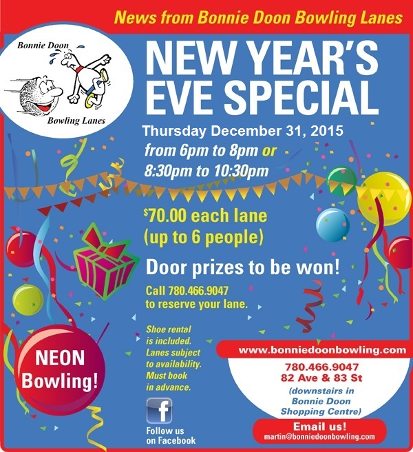New Year's Eve at Bonnie Doon Bowling Lanes