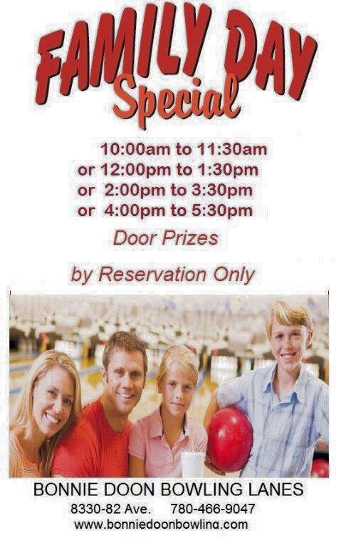 Family Day Fun at Bonnie Doon Bowling Lanes. Book now!